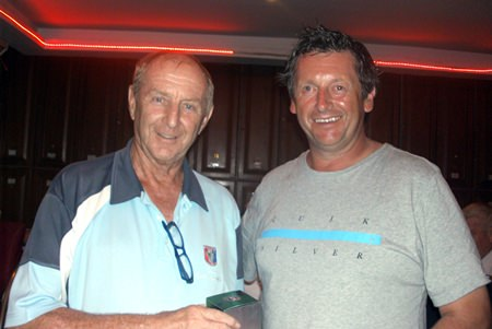 Colin Davis (left) congratulates Sunday's Medal winner Tim Shaw.