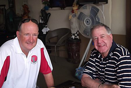 Eddie Kelly (right) with brother Peter.