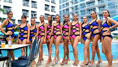 A fashion parade and water volleyball tournament go hand in hand.