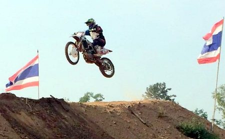 A motocross event was also held on the shore-side of the lake.