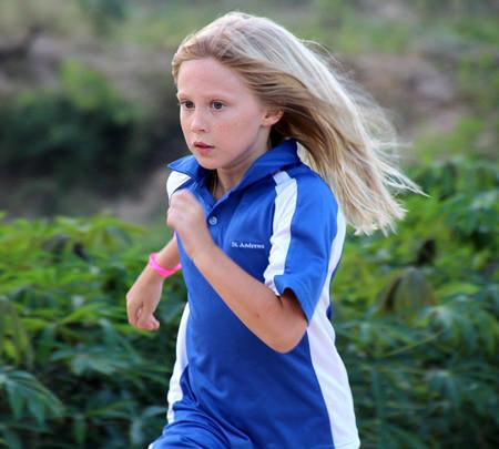 Eve Greener toughs it out and claims a 2nd place finish in the girls under 11 event.