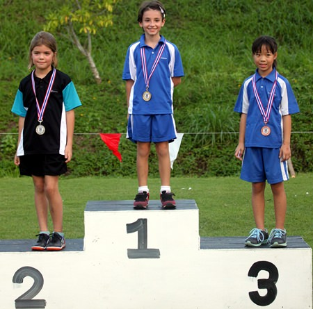 Ginevra and Madee stand tall with a 1st and 3rd finish in the under 9 girls race.