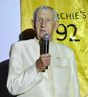 Archie Dunlop BEM was so impressed he has already booked his 93rd birthday party in September 2015 at Baan Souy Resort.