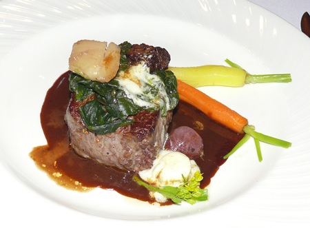 The main course was a grain fed Charolaise fillet from Australia.