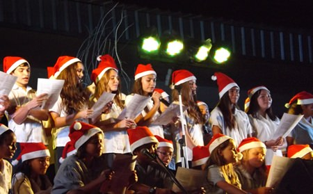 """A beautiful performance of """"Silent Night"""" by the Secondary School Choir."""