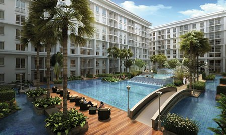 An artist's rendering shows the 526-unit Orient Jomtien Resort & Spa.