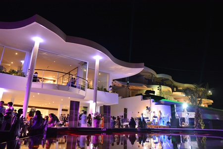 Guests enjoy the lavish opening party on November 22.