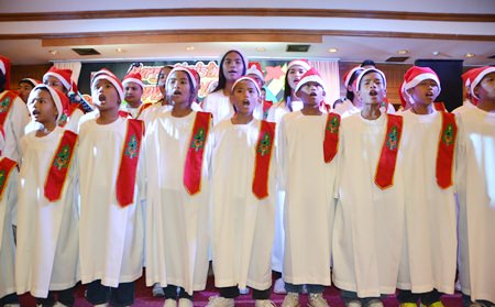 Children form the orphanage brought tears to our eyes with their beautiful renditions of Christmas carols.