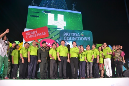 Local officials gather at Bali Hai to officially launch this year's Pattaya Countdown to the New Year festivities.