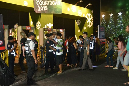 Security was tight before during and after the concerts at Bali Hai