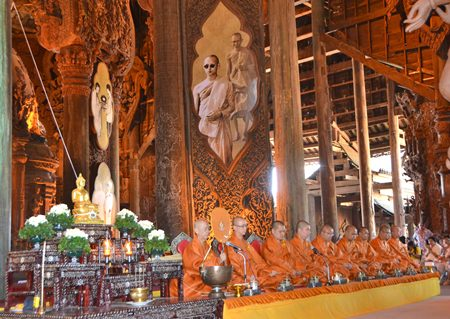 Buddhist monks said prayers until 4pm, accompanying ceremonies of 3 other religions; Catholic, Islam, and Sikhism.