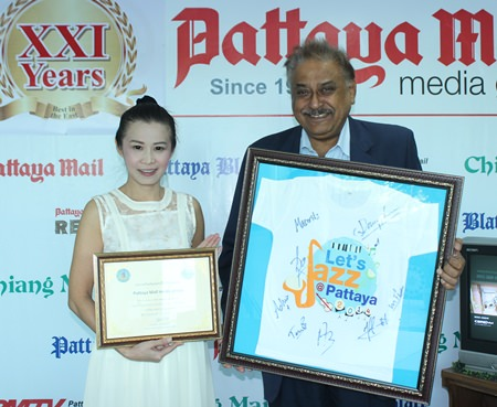 YWCA Bangkok-Pattaya Center Chairwoman Praichit Jetapai thanks Pattaya Mail Media Group MD Peter Malhotra for our assistance and close cooperation for the many community activities throughout the years.