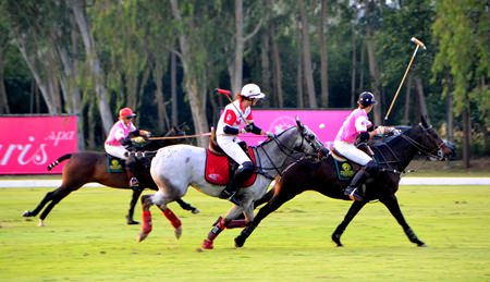 Paisano Dragons and Maple Leafs battle for supremacy in the polo final.