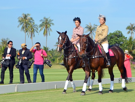 The day featured a special fashion show on horseback