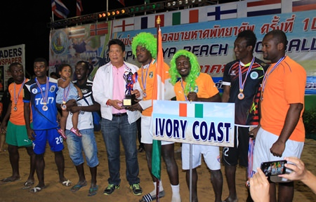 Ivory Coast finished third overall.
