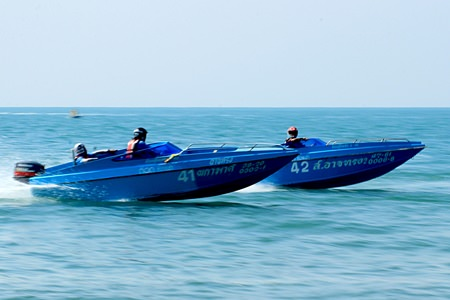 High-powered boats compete in the Sport Open 4 cylinders category.