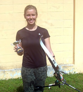 Dasha Dmitrieva, a future Olympic archer?