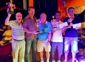 The champion team from the Royal Bangkok Sport Club.
