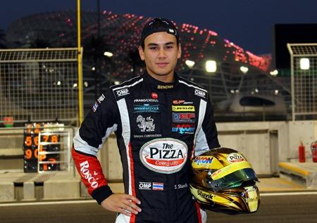 Thailand's EuroFormula Open Formula 3 champion, Sandy Stuvik.