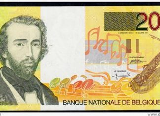 Adolphe Sax's portrait appeared on a 1995 Belgian bank-note.