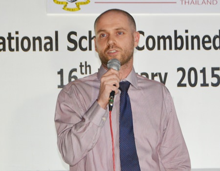 Bromsgrove International School Thailand Deputy Headmaster James Swan informs the gathered networkers everything they need to know about the school.