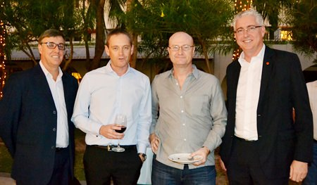 (L to R) Richard Gamlin, Resident Manager of Amari Hotel Pattaya; Ken Brookes, MD of Niedax Group; Neil Farrell GM of EPL Thailand; and Brendan Daly, GM of Amari Pattaya.