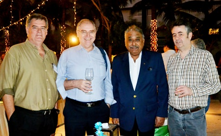 Les Walsh, MD of Yamira; Horst Rudolf from Asian Political and Economical Analysts; Peter Malhotra, MD of Pattaya Mail Media Group; and Mark Butters, Director of RSM Advisory (Thailand) Ltd.