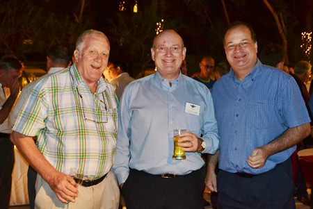 (L to R) Jim Howard, Sales Manager, Oil Field Equipment Services; Graham Macdonald, President of the South African Thai Chamber; and Greg Watkins, Executive Director of the British Chamber of Commerce Thailand enjoy great conversation.