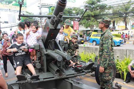 Sattahip Naval Base brought some heavy artillery to the event at city hall.