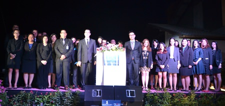 Royal Cliff Hotels Group Executives pose with top management for a group photograph.