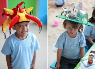 Some Primary students from GIS came up with their amazing hats.