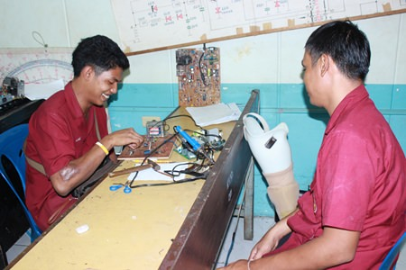 Electronic students at the Redemptorist Vocational School for Persons with Disabilities are able to build their careers through learning.