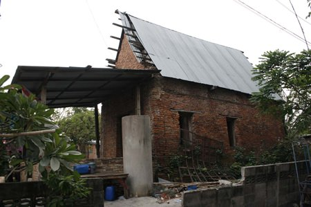 Initially, the office will build a temporary roof over the chapel protecting it from the weather.
