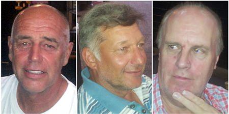 Adrian Cook, Alan Pilkington & Danny Greer.