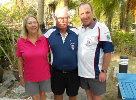 Dave Richardson (centre) with Karen and Rob Brown.