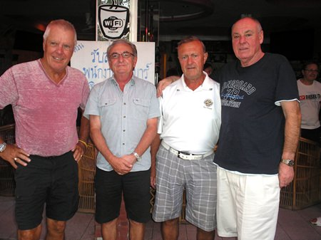 (L to R): Jim Connelly, Alan Bissell, Howard Stanley and Mike Fitzgerald.