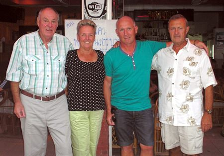 (From left) Mike Fitzgerald with Jill Stanley, Niels Vivif and Howard Stanley.