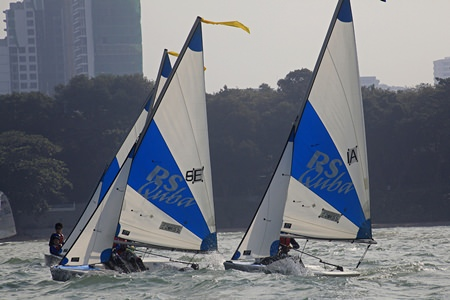 High winds on Day 2 made sailing conditions tough for everyone.