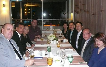 (L to R): Bert Elson, British Honorary Consul; Rudolf Hofer, Honorary Consul General of Germany & Austria; Sriwanna Jitprasert, Honorary Vice Consul of Germany & Austria; Victor Kriventsov, Deputy Honorary Consul of Russia; Boonyarat Wattanawong, Consular Officer, Singapore Embassy in Bangkok; Gabriel Liow, Counsellor (Administrative & Consular), Singapore Embassy in Bangkok; Kenneth Kwa; Chatchawal Supachayanont, Honorary Consul of Sweden and Vanjie Lauzon, Consul Officer, Swedish Consulate in Pattaya.