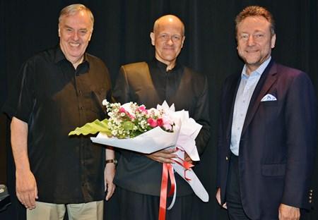(L-R) Ben Hansen, Leon Koudelak and Dr. Vítìzslav Grepl, the Czech Ambassador.