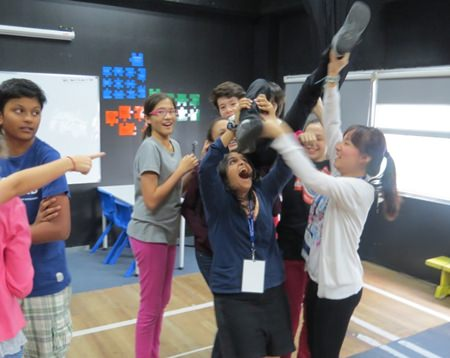 Fun times during a Frantic Assembly drama workshop in Manila