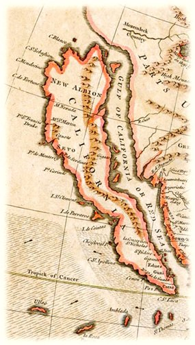 A 1745 map of California, by R. W. Seale