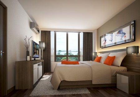 Citadines Grand Central Sri Racha offers 136 luxuriously appointed rooms and residences.