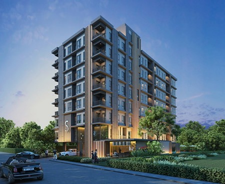 An artist's impression shows the S-Fifty Cloud Condominium.