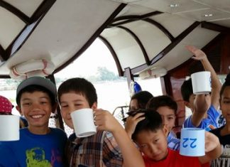 Hot chocolate helps us prepare for our river trip!
