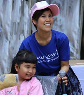 """""""Turning a child's dream turn into reality is one of the most rewarding experiences,"""" said Mikki Meksawan, managing director of Make-A-Wish Foundation Thailand."""