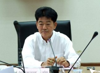 Former Chonburi Gov. Wichit Chatpaisit returned to the province last month to review the progress of projects that have received funding from the Interior Ministry.