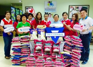 The YWCA Bangkok-Pattaya Center recently donated 500 kilograms of rice to the Father Ray Foundation for the S.O.S. Rice campaign.