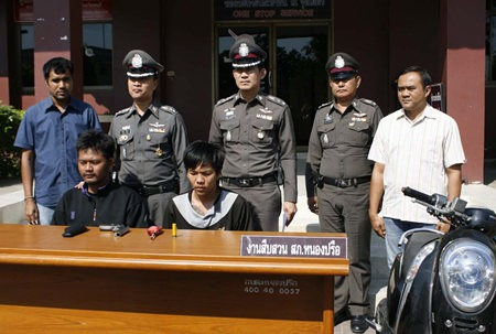 Danai Petpoom and Pornchai Manorah have been arrested for allegedly committing 3 armed robberies in Pattaya.