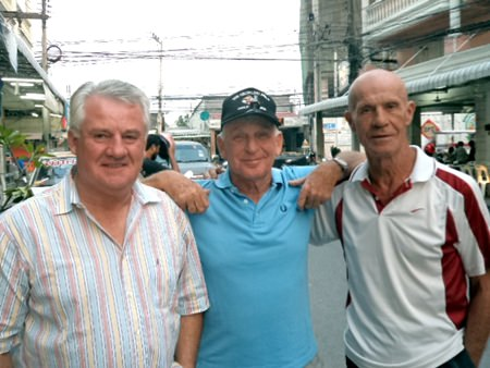 (Left-right) Roger Ellis, J.C. Lhoste and Alain Taddei.
